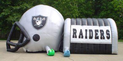 inflatable football helmet tunnel