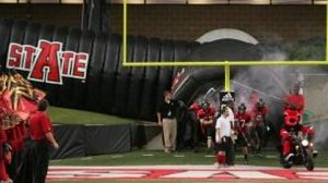 College football tunnel