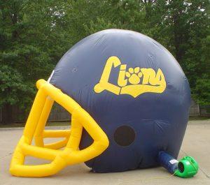 giant football helmet tunnel