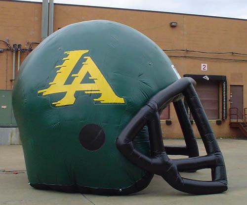 los alamos football helmet tunneel