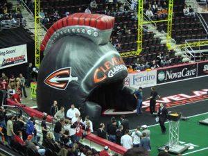 spartan helmet inflatable tunnel