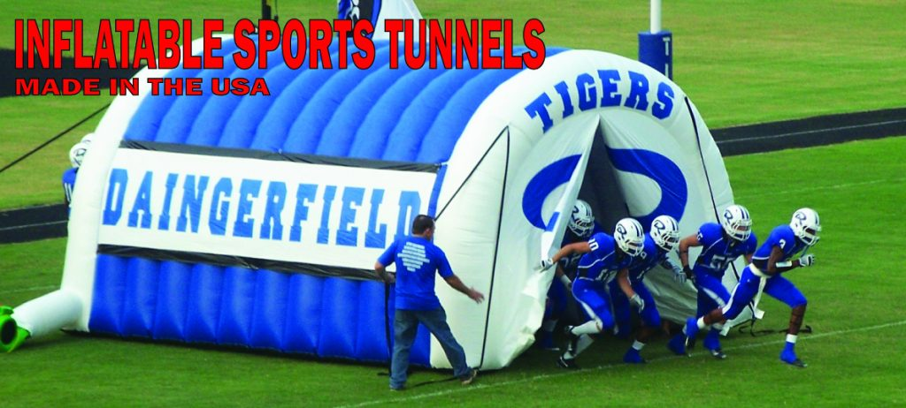 Inflatable football tunnel