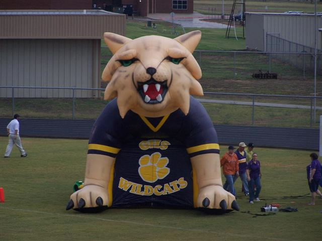 Wildcat mascot tunnel inflatable