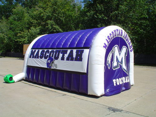 football tunnel inflatable