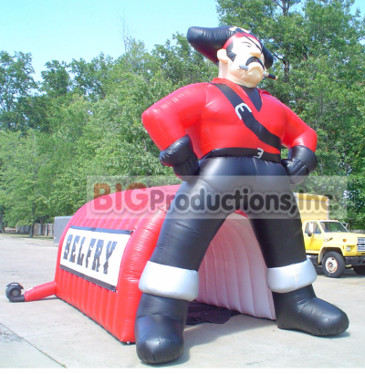 Pirate inflatable team tunnel